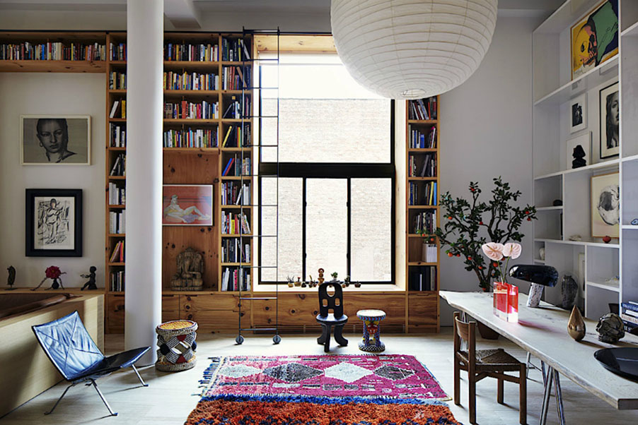 new york loft at inez and vinoodh s residence yue 39 meeda clothing. Black Bedroom Furniture Sets. Home Design Ideas